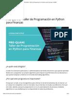 PRE-QUANt - Taller de Programación en Python para Finanzas _ UCEMA