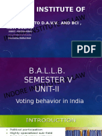 Voting behavior in India .pptx