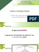 Apresentação Fatores de Textualidade