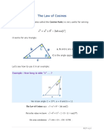 11B - The Law of Cosines