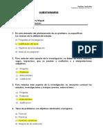 Cuestionario - Tesis II