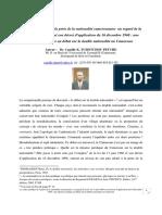 article sur la double nationalité  Dr. camille TCHOTCHOU   PETCHE