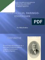 DIVERTICULUL FARINGO-ESOFAGIAN prezentare rezidenti