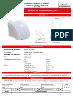 UI FT 060, IASM0215 Secador de manos en ABS blanco