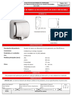 UI FT 079, IASM0111 Secador de manos Ultra Eficiente en acero inoxidable.pdf