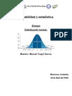 Probabilidad y estadística normal