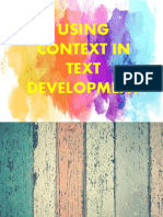 USING CONTEXT IN TEXT DEVELOPMENT