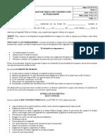 Formato Induccion y Reinduccion al Trabajador