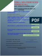 PUBLICIDAD DE VALORIZACION Y LIQUIDACION DE OBRA