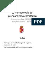 3  La metodología del planea