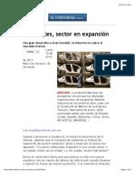 Autopartes, sector en expansion (El universal)