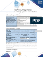 Guía de actividades y rúbrica de evaluación - Tarea 3 - Equilibrio y cinética-1