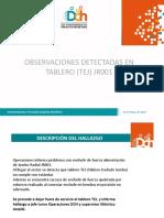 OBSERVACIONES DETECTADAS EN TABLERO (TEJ) JR001