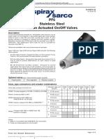 Ficha tecnica valvula pistón PF61