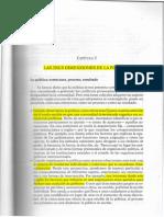 Lectura 4 LAS TRES DIMENSIONES DE LA POLITICA