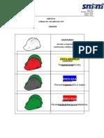 2.05 Anexo 01 - Código de Colores de EPP