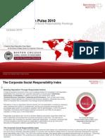 CSRI 2010 Report TopLine