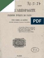 Darras Joseph Epiphane SAINT DENYS L'AREOPAGITE Premier Eveque de Paris Louis Vives 1863