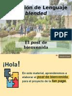 PPT El post de bienvenida a la fan page