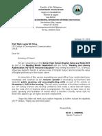 letter for emceeing and hosting