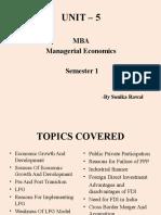 UNIT – 5 MBA semester 1 Managerial Economics