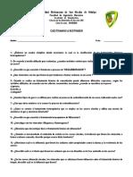 Cuestionario a contestar (Cap. 3)