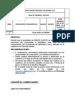 GUIA DE TRABAJO VIRTUAL No. 4 GRADO QUINTO