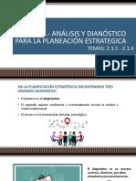 U2. ANÁLISIS Y DIANÓSTICO PARA LA PLANEACIÓN ESTRATEGICA