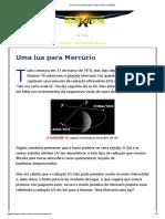 Uma lua para Mercúrio   Astronomia no Zênite