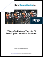 How to Prolong and Restore Lead-acid Batteries