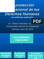 5 La protección internacional de los derechos humanos (Sistemas regionales)