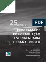 Livro 25 anos da Pós-Graduação em Engenharia Urbana na UFSCAR