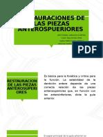 RESTAURACIONES DE LAS PIEZAS ANTEROSPUERIORES