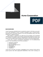 Kerzner's 2nd ed. PM Acme Risk Case