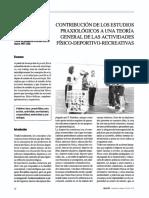 CONTRIBUCION DE LOS ESTUDIOS PRAXIOLOGICOS