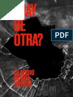 ¿NO HAY DE OTRA?