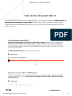 Presupuesto tienda online Woocommerce (Wordpress)