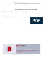 Effect of the internet in improving business transactions with