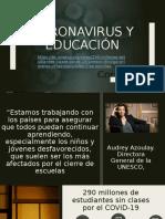 Coronavirus y educacion