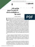 La Jornada_ La reactivación pos-Covid-19 será ecológica o no será