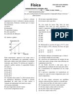 AVALIAÇÃO BIMESTRAL 3º PE FÍSICA 2º ANO 2013
