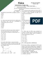 AVALIAÇÃO BIMESTRAL 3º PE FÍSICA 3º ANO 2013