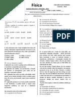 AVALIAÇÃO BIMESTRAL3º PE FÍSICA 1º ANO 2013