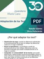 Adaptación de los test