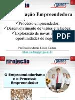4ª Aula - Processo Empreendedor - desenvolvimento de visões e relações, exploração de novas ideias e oportunidades de negócios.