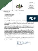 Sen. John DiSanto's letter calling for Labor & Industry secretary's resignation