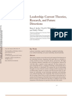 Avolio Et Al 2009 Leadership Current Theories Research and Future Directions