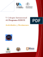 5to Coloquio Internacional del Programa EDICE - Libro de Actividades y Resúmenes