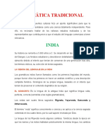 Info. de la linea de tiempo linguistica