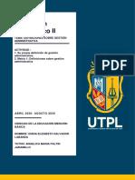 Tarea1 Entregable 1 – Unidad 1 Matriz que contenga definiciones sobre gestión administrativa y definición personal Practicum II